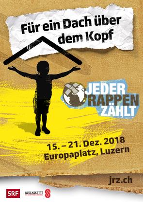 «Jeder Rappen zählt» - Spendenaktion vor dem KKL Luzern