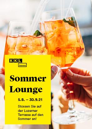 Sommer Lounge auf der Luzerner Terrasse